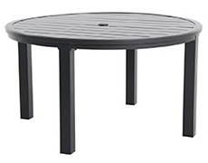 "Indies Post Leg Slats 54"" Round Dining Table L8854RD-01-FPTN"