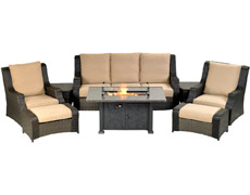 Rome 8-Piece Deep Seating Group with Fire Table RMDSG8