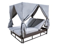 Soho Canopy Daybed with Grey Curtains (903-9235-JBP)