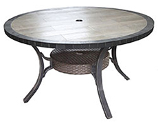"Belize 54"" Round Dining Table V0254RD-01-TRLN"