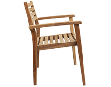 Sylvan Teak Dining Arm Chair HL-SYLV-TK-DAC
