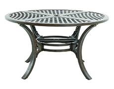 """Riva Traditional Cast 54"""" Round Chat Table C8354RD-01-CRPN"""